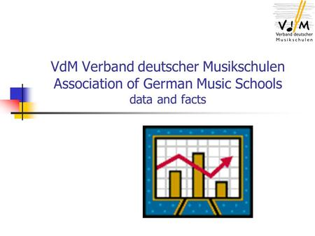 VdM Verband deutscher Musikschulen Association of German Music Schools data and facts.