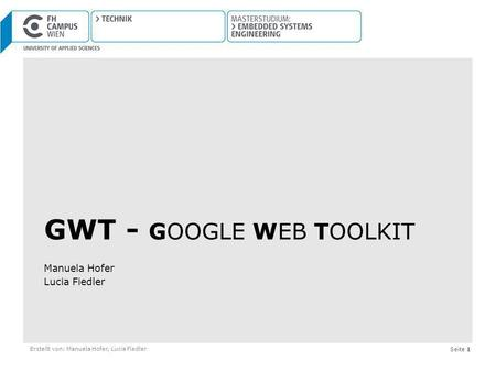 GWT - google Web Toolkit
