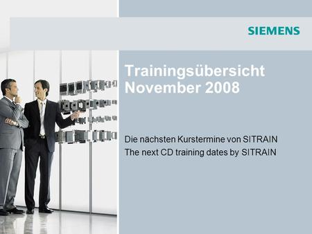Trainingsübersicht November 2008