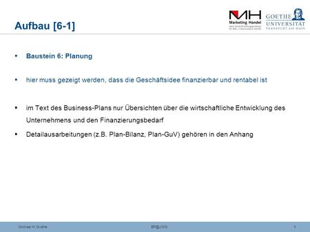 Business-Plan (II) Thomas Rinker (Leiter Career Services)