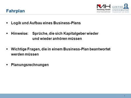 Business-Plan (I) Thomas Rinker (Leiter Career Services)