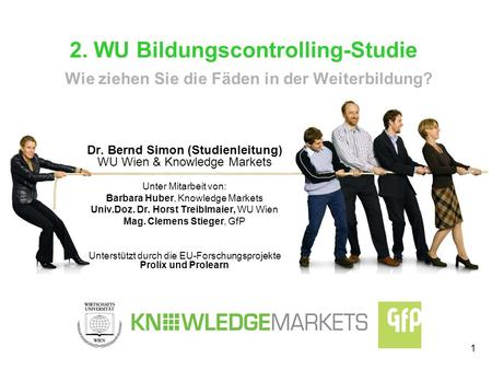 Dr. Bernd Simon (Studienleitung)  WU Wien & Knowledge Markets