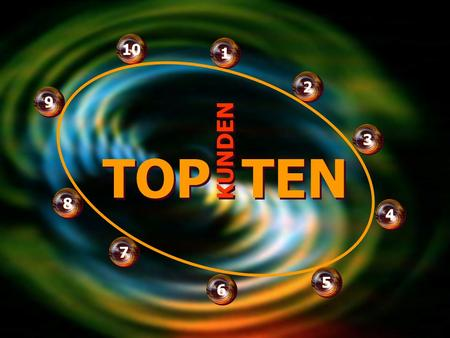 TOP TEN TOP TEN 1 1 2 2 9 9 10 KUNDEN 4 4 6 6 7 7 3 3 5 5 8 8.