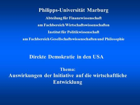 Philipps-Universität Marburg