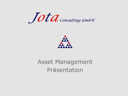 Asset Management Präsentation
