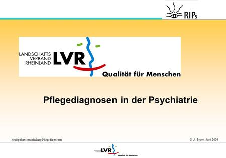 Pflegediagnosen in der Psychiatrie