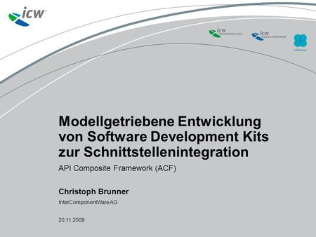 © 2009 ICW AG – GE Partner Enabling - title of training presentation