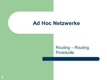 Routing – Routing Protokolle