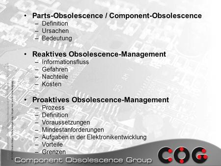 Parts-Obsolescence / Component-Obsolescence