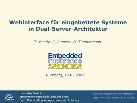 Webinterface für eingebettete Systeme in Dual-Server-Architektur