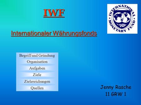 IWF Internationaler Währungsfonds
