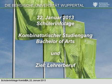 Kombinatorischer Studiengang Bachelor of Arts