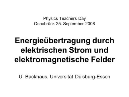 Physics Teachers Day Osnabrück 25