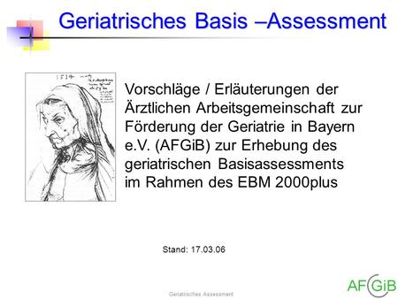 Geriatrisches Basis –Assessment