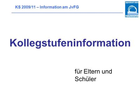 Kollegstufeninformation