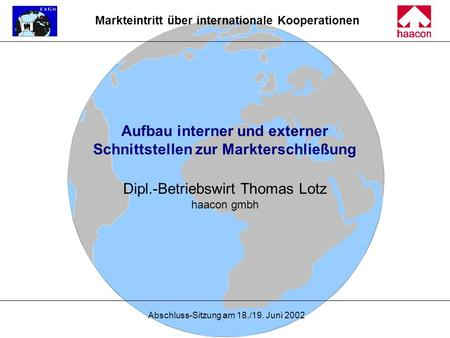Markteintritt über internationale Kooperationen