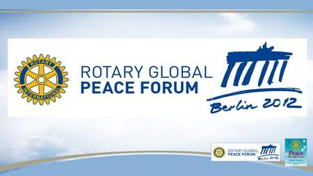 Sakuji Tanaka Rotary International President 2012-13 Peace Through Service.