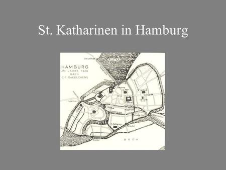 St. Katharinen in Hamburg. Situation am Dovenfleet (Zollkanal) um 1875.