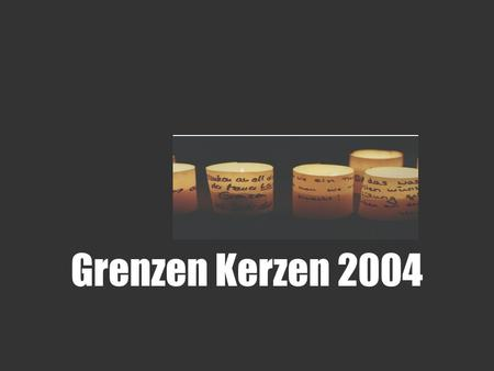 Grenzen Kerzen 2004. Where was the wall anyway? The one feature that shaped Berlin more than any other, has all but disappeared from the face of Berlin.