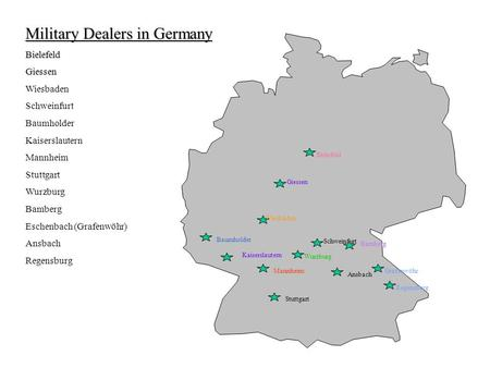 Military Dealers in Germany