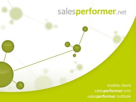 Mobile client salesperformer crm salesperformer outlook.