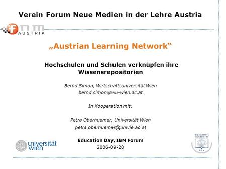 """Austrian Learning Network"""