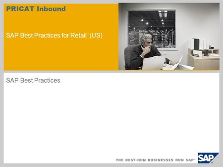 PRICAT Inbound SAP Best Practices for Retail (US) SAP Best Practices.