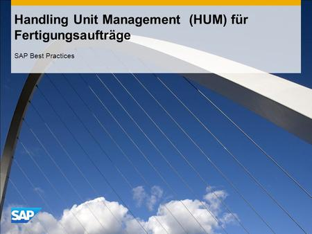 Handling Unit Management (HUM) für Fertigungsaufträge SAP Best Practices.