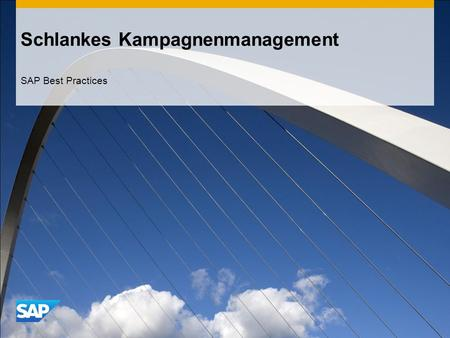 Schlankes Kampagnenmanagement SAP Best Practices.