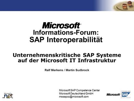 Informations-Forum: SAP Interoperabilität