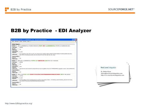 B2B by Practice - EDI Analyzer.