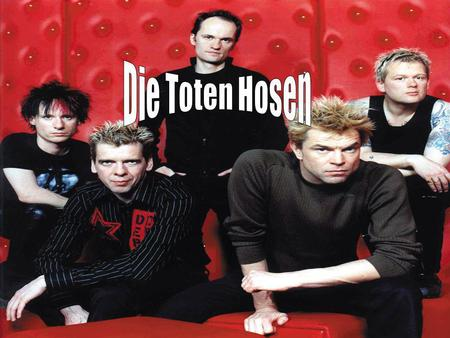 How they started Die Toten Hosens first single,Wir Sind Bereit, and debut album, Reisefieber, Were recorded in 1982 in Rudas Studio in Düsseldorf, Germany.
