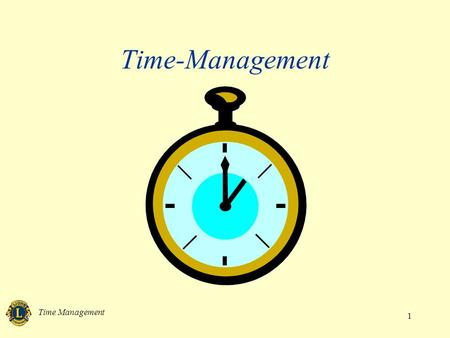 Time-Management Time Management