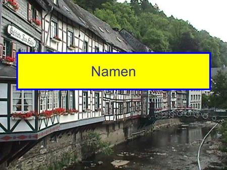 Namen. Decide if the following names are more typically German or American.