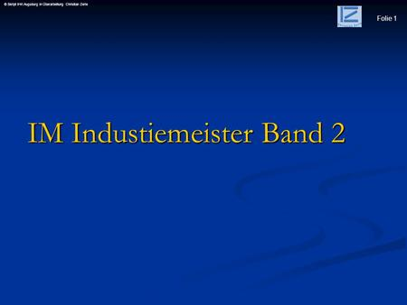 IM Industiemeister Band 2