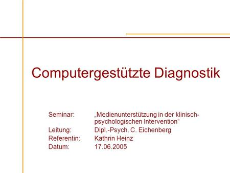 Computergestützte Diagnostik