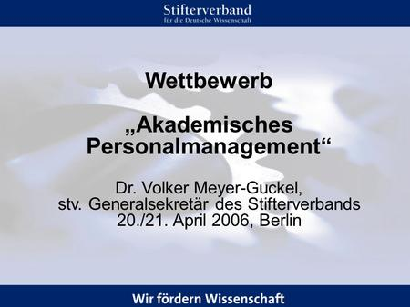 """Akademisches Personalmanagement"""