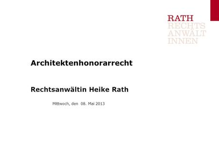 Architektenhonorarrecht