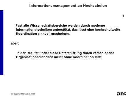 Informationsmanagement an Hochschulen