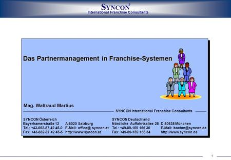 Das Partnermanagement in Franchise-Systemen
