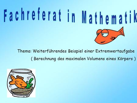 Fachreferat in Mathematik