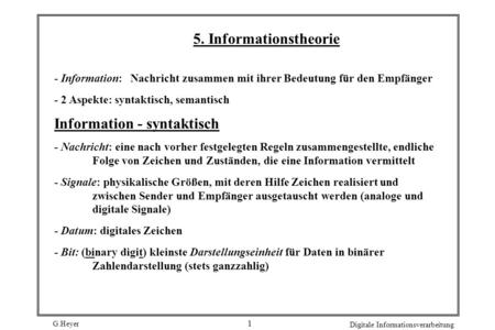 Information - syntaktisch