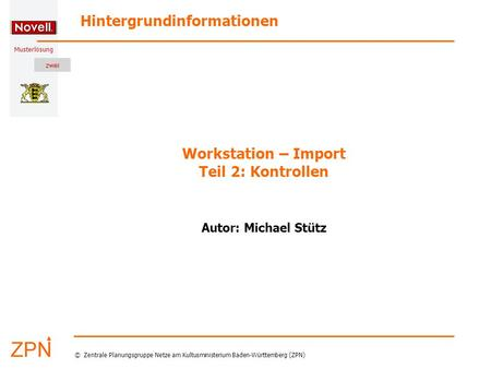 Workstation – Import Teil 2: Kontrollen