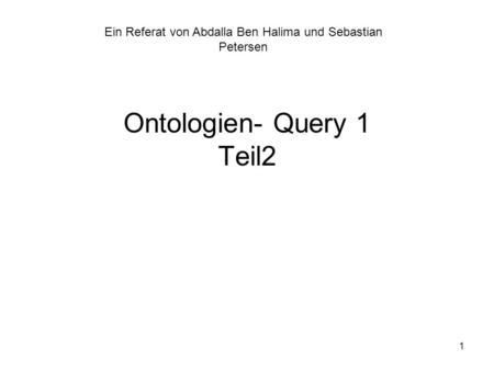 Ontologien- Query 1 Teil2