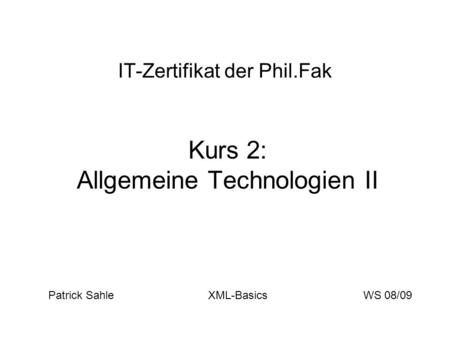 IT-Zertifikat der Phil.Fak