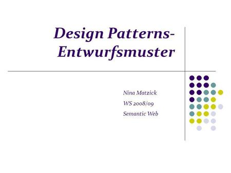 Design Patterns- Entwurfsmuster