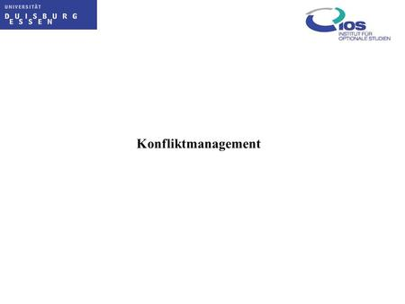 Konfliktmanagement.