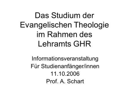 spät studieren theologie