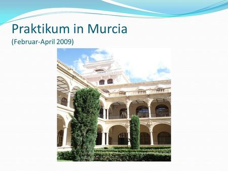 Praktikum in Murcia (Februar-April 2009)