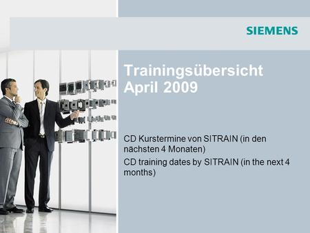 Trainingsübersicht April 2009